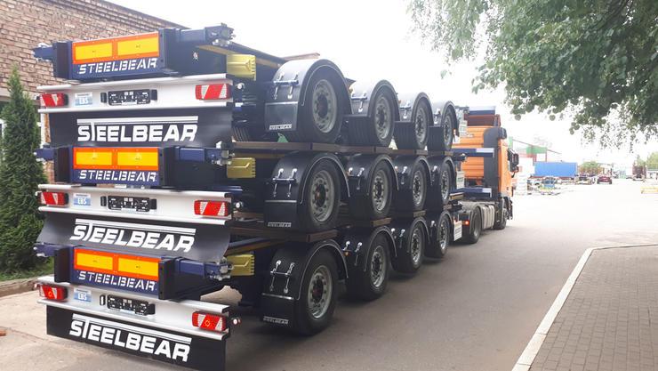 Четырехосные полуприцепы контейнеровозы STEELBEAR – больше груза и весовой контроль без нарушений законодательства!
